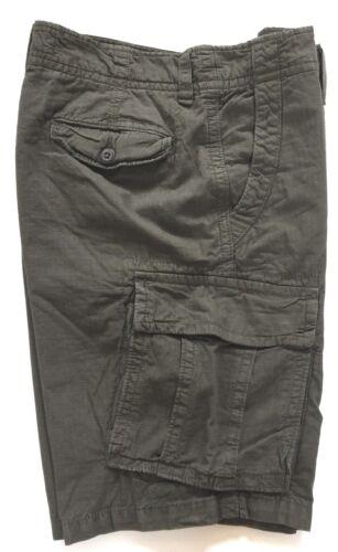 "American Eagle Mens Shorts Grey Check Cargo Walk Zip Combat 30/"" Small Medium"