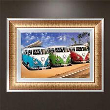 DIY 5D Diamond Embroidery Painting Bus Cross Stitch Craft Kit Home Decor
