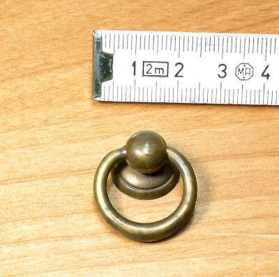 M0100 BOCCHETTA CHIAVE OTTONE ORO SATINATO mm 35 RESTAURO MOBILE ANTICO