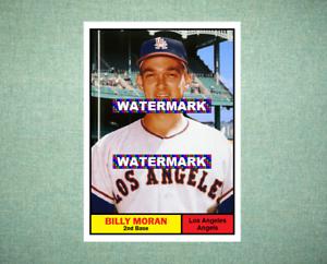 Billy Moran Los Angeles Angels 1961 Style Custom Baseball Art Card