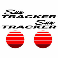 2 Sun Tracker Pontoon Marine Vinyl Suntracker Boat Decals - 44 X 13 Inches Tall
