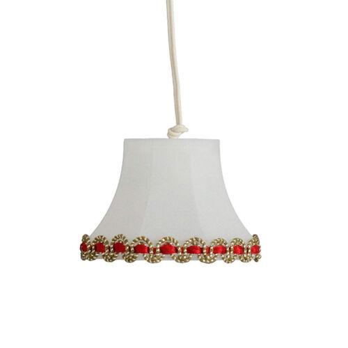 # Kahlert 19511 LED Hängelampe mit goldener Borte 3,5V 1:12 für Puppenhaus NEU
