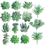 FEPITO-15-Pcs-Artificial-Succulent-Plants-Green-Unpotted-Faux-Flower-Succulents thumbnail 9