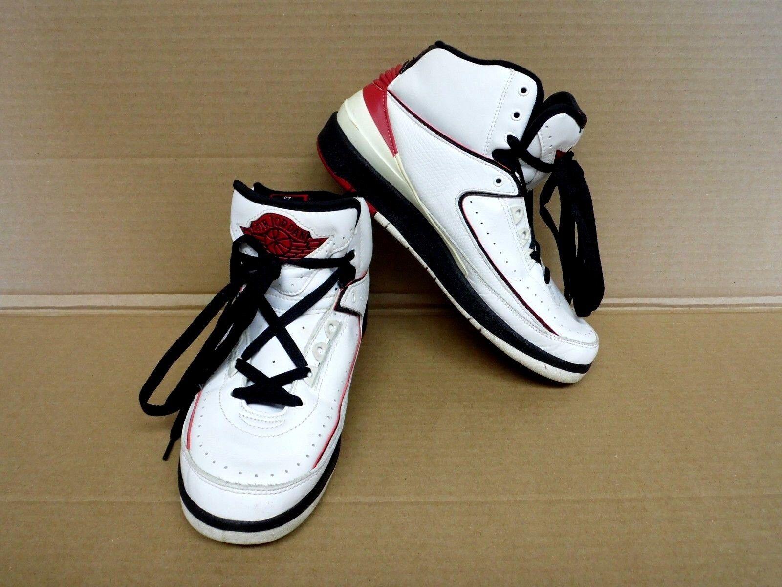 Nike Air Jordan Retro 2 Mens Basketball shoes Sz 8 White Varsity Red 308308-161