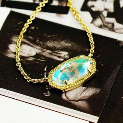 Kendra Scott Elisa Dichroic Glass Gold Necklace