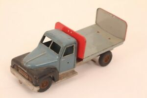 Olympic-Folders-Esso-Flatbed-Truck-Hanomag-429-20-US-Zone-Germany-Tin-Toy
