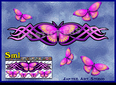 Butterfly Small Pink Sticker - Animal Car Stickers For Caravan- ST00021SPK