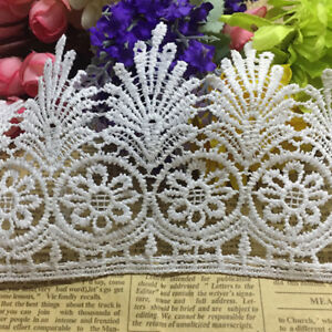 Wide Vintage Guipure Crochet Lace Trim Ribbon Wedding Sewing Bridal