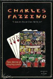 "CHARLES FAZZINO ""STRAIGHT FLUSH CALL MY BLUFF"" PLAYING CARDS ~ 2 DECK GIFT SET"