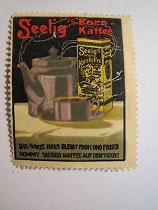 Firma-Seelig-Seelig-039-s-Korn-Kaffee-Reklamemarke
