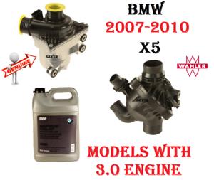 Details about 07-10 BMW E70 X5 3 0si 30i Electric Water  Pump+Thermostat+Bolt Kit+Coolant SET