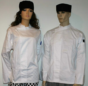 3-x-white-chefs-jackets-pullover-With-pen-pocket-unisex-male-or-female