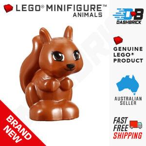 Lego New Dark Orange Squirrel Friends Elves with Black Brown and White Eyes