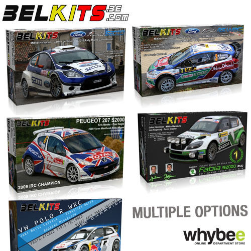 NEW  BELKITS 1 24 SCALE RALLY WRC CAR PLASTIC MODEL KITS - PHOTO ETCHED PARTS