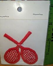 Sew on Patch NOS vintage New Unused in original package. Tennis Racket
