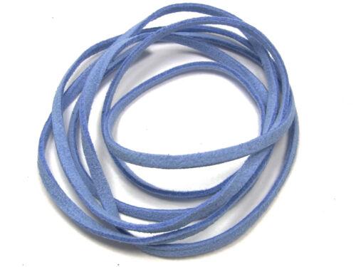 2 M veloursband bleu clair; v120 3 x 1 mm simili daim