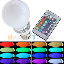 3W E27 led RGB Bulb Light Lamp 16 Colors Changing with Wireless Remote Control