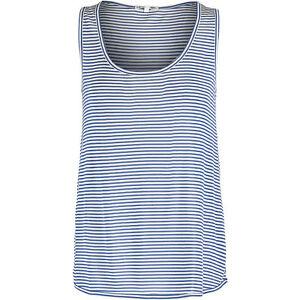 LACOSTE-Women-039-s-Navy-amp-White-Silk-Blend-Striped-Vest-Large