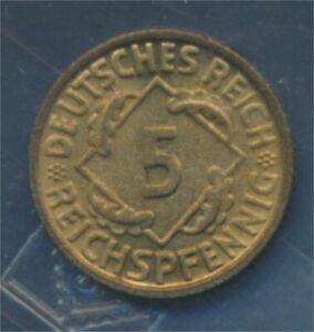 German-Empire-Jagerno-316-1935-F-UNC-5-reich-pfennig-spikes-7879643
