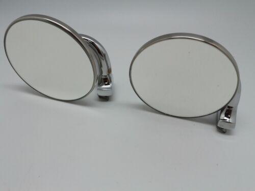 60/'s 70/'s 80/'s Vintage Classic Round Chrome Mirror for Hood Bonnet Door 2