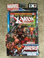 "Marvel Universe Greatest Battles Colossus Juggernaut Comic Pack 3 3/4"""
