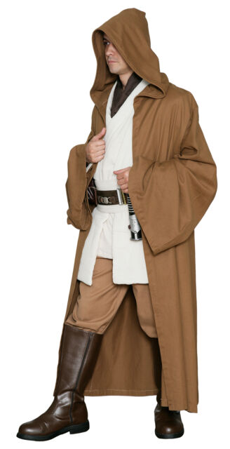 Light Brown JEDI ROBE Only - Excellent Quality Star Wars Costume Cloak from UK  sc 1 st  eBay & Light Brown Jedi Robe Only - Quality Star Wars Costume Cloak From ...