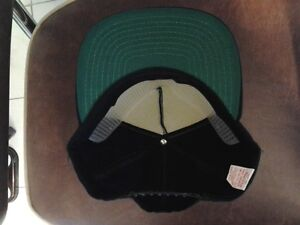 vintage New Era Pro Design green under brim plain black Cap snapback ... 656de8d5a56