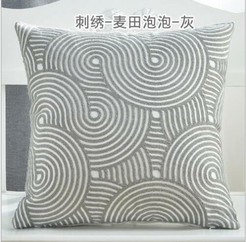 VINTAGE Les taies d/'oreiller coussin cas broderie motifs géométriques 18/'/'x18/'/' Pour Canapé Voiture