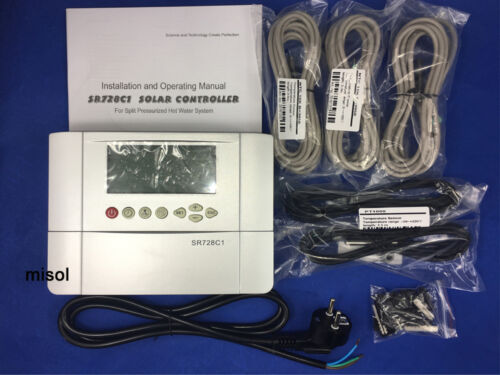 220V controller of solar water heater with 5 sensors for separated pressurized