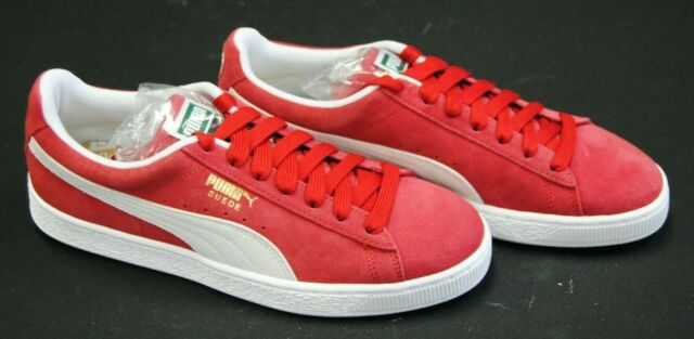 PUMA Suede Classic Red White 352634-05