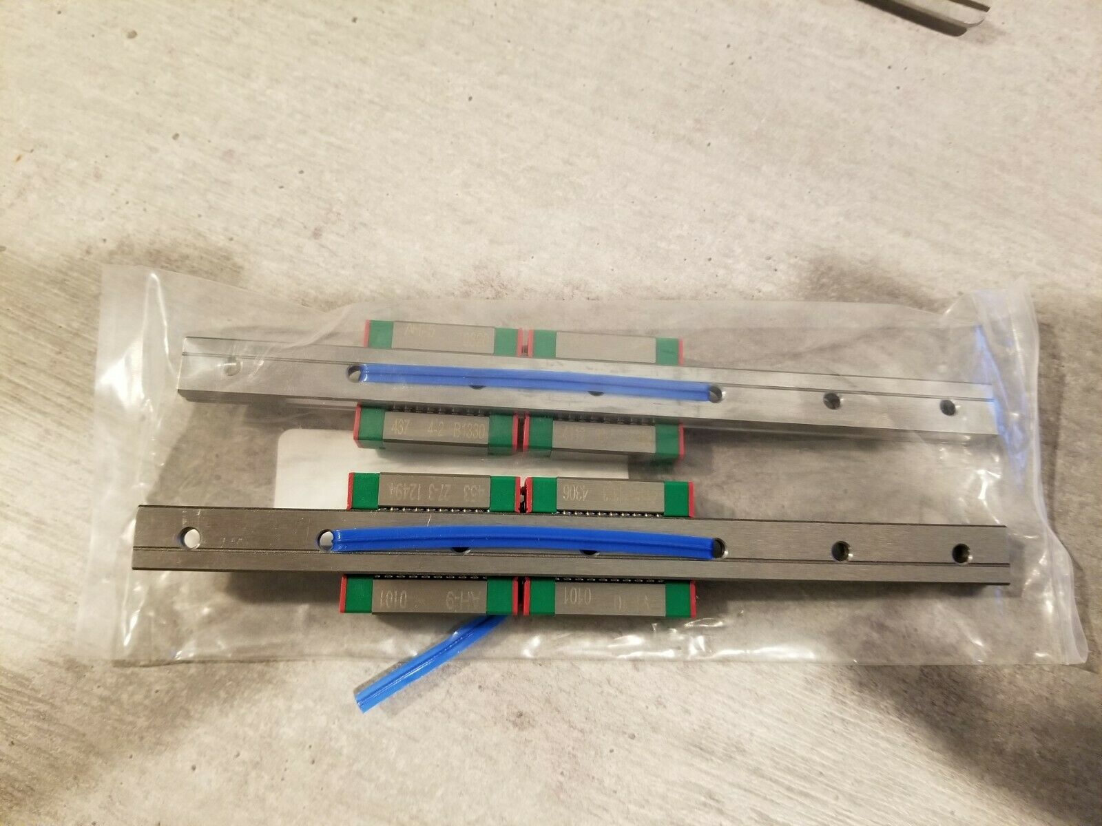 """HIWIN LINEAR RAILS  CUT TO LENGTH  4/"""" TO 78/""""   MODEL# MGNR-12-RXXX-H"""