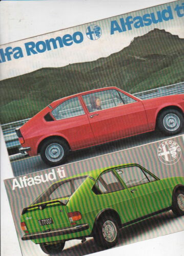 Two 1977-78 ALFA ROMEO ALFASUD ti Italian Small Format Brochures in English