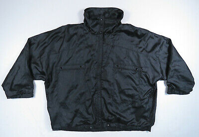 Vintage 80s Adidas Damen Schwarz Satin Fledermaus Windbreaker Trainingsjacke Trefoil L | eBay