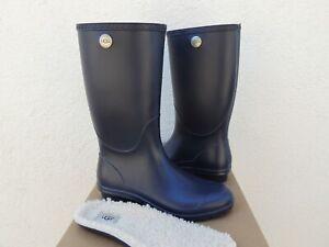 a9b10a534e1 Details about UGG NAVY TALL SHELBY MATTE RUBBER RAIN BOOTS, WOMEN US 6/ EUR  37 ~ NIB ~USA MADE