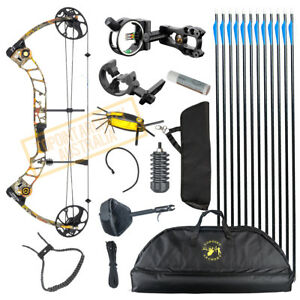 Details about NEW 15-70LB COMPOUND BOW & ARROW HUNTING TARGET ARCHERY US  LIMBS Right Handed