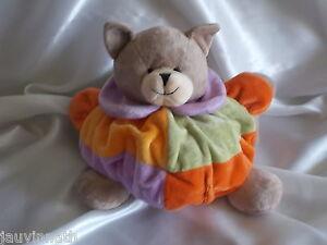 Doudou-ours-boule-patchwork-Flor-Albi-S-A-Sabadell-Tragadas