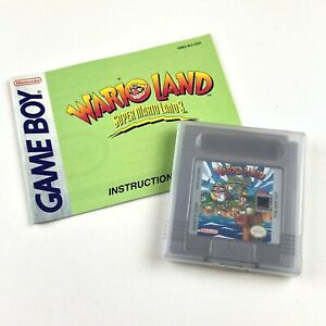 Wario-Land-Nintendo-Game-Boy-Cartridge-With-Manual-Tested-amp-Working-FS-VTG