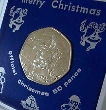 2011 Isle of Man IOM Christmas Xmas Card Keepsake UNC Coin Gift in Display Case