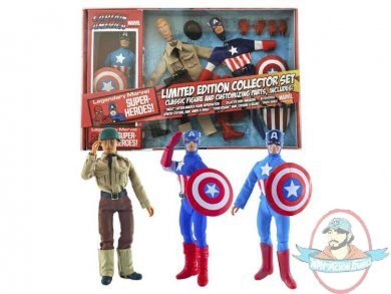 Captain America 8  Retro Figure Set Limited Edition Diamond Select