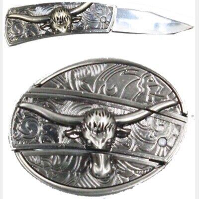 Plain 3d Belt Buckle REMOVABLE Western Cowboy SILVER HIGH QUALITY