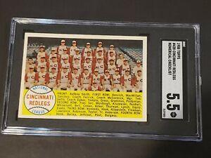 1958-Topps-428-Cincinnati-Redlegs-NUMERICAL-SGC-5-5-Recently-Graded-PSA-BVS