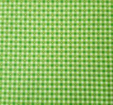 Printed Gingham BTY Studio 8 Quilting Treasures Bright Green White Gold X/'s