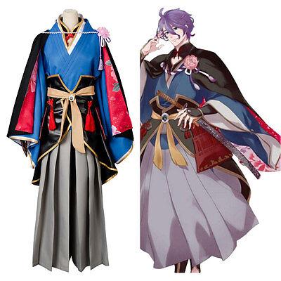 Touken Ranbu Kasen Kanesada Cosplay Costume Kimono Dress Suit Uniform Outfit Set