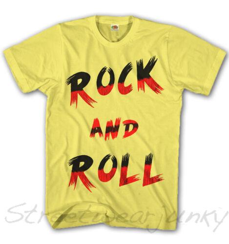 * t-shirt Hommes rock /& roll musique Casual look punk Maglietta NEUF s-xxxl rr4106 *