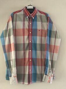 NWT Tommy Hilfiger Mens Shirt Long Sleeve Button Up Regular Fit 116788 Size XL