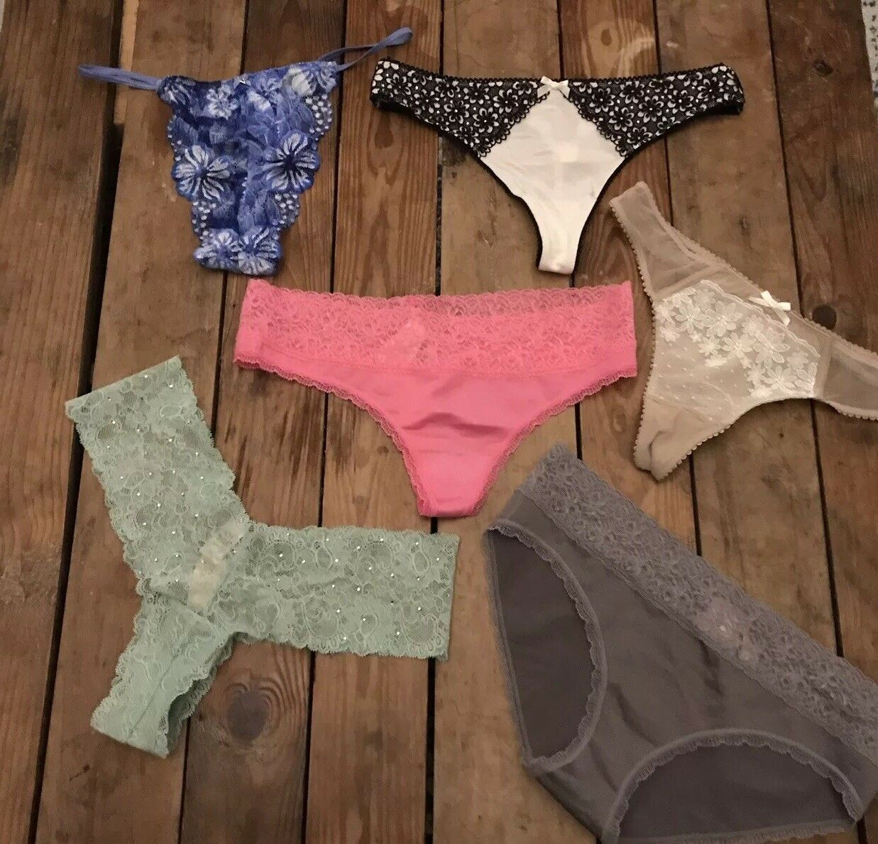 NWT Victoria's Secret Bundle of 6 Panties Multiple Styles Size M MSRP  99 CG24