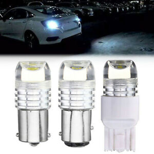 10x Strobe Flashing 7743 6w Auto Led Projector Bulb Led Tail Brake Stop Light Ebay