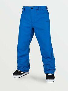 2021 Nueva Con Etiquetas Para Hombres Pantalones Volcom Carbono Snowboard 120 L Cyan Blue 2 Capa Loose Fit Ebay