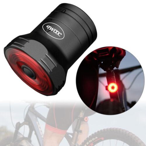 Bicycle Smart Brake Light Sense LED USB Bike Rear Tail Light Waterproof 44*34*28