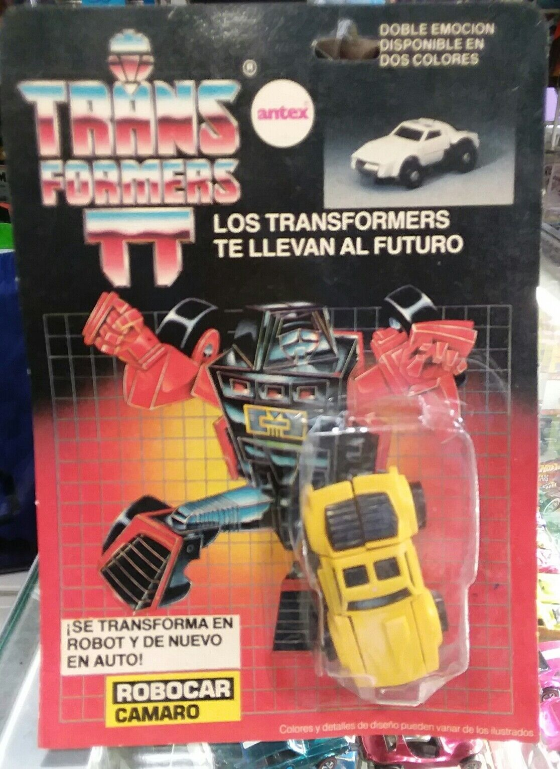 Transformers G1 Antex Robocar Camaro Yellow Windcharger silverina Variant MISBP